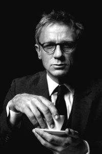 James Bond Daniel Craig drinking coffee