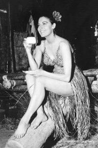 Ava Gardner drinking espresso coffe