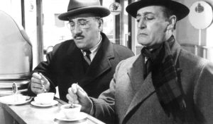 Totò italian famous actor drinking coffee