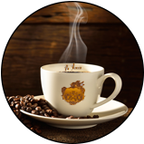 tazzina caffè espresso de roccis coffee cup