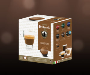 De Roccis_Cortado wholesale coffee compatible capsules pods blends arabaica robusta