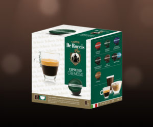 De Roccis_Cremoso wholesale coffee compatible capsules pods blends arabaica robusta