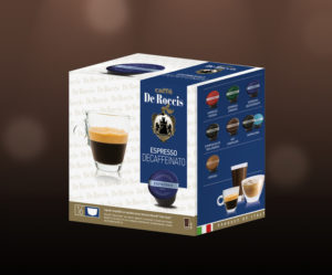 De Roccis_Decaffeinato wholesale coffee compatible capsules pods blends arabaica robusta