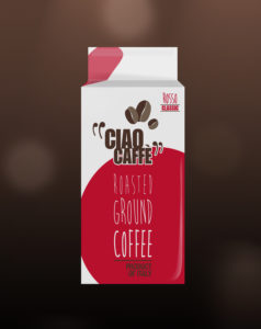 De Roccis Ciao Caffè Classico roasted ground coffe in vacuum bag for coffee vending machines