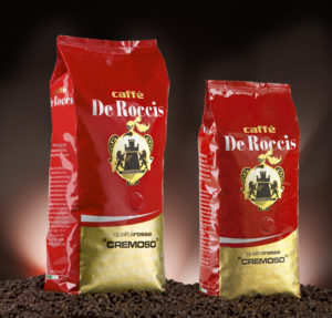 De Roccis_Cremoso_1+500 top quality wholesale coffe blend italian espresso coffee beans wholesale